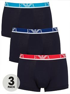 emporio-armani-bodywear-3-pack-eva-stretch-cottonnbspmixed-waistband-trunks-navy