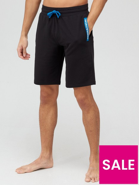 emporio-armani-bodywear-french-terry-lounge-shorts-black