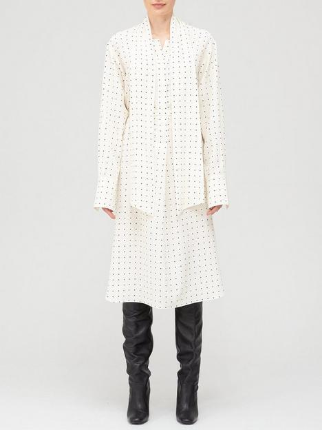joseph-doriane-silk-polka-dot-dress-ivory