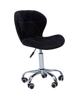 premier-housewares-geanie-velvet-office-chair--black
