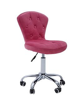 premier-housewares-amelie-velvet-office-chair--pink