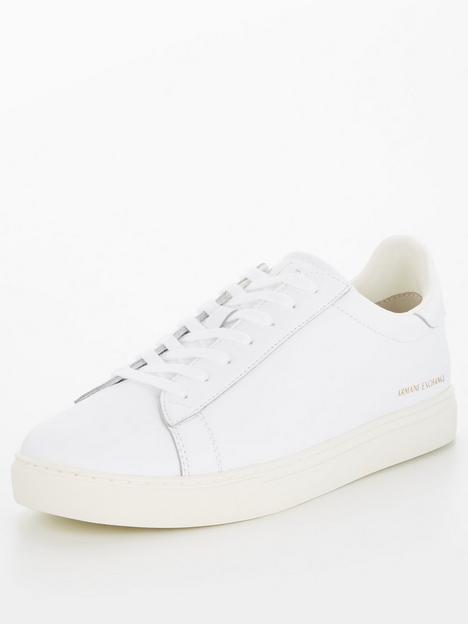 armani-exchange-leather-trainers-whitenbsp