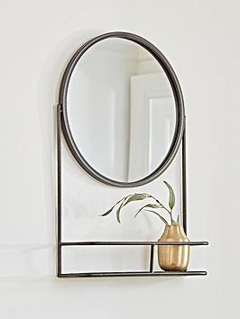 cox-cox-bronze-round-shelf-mirror