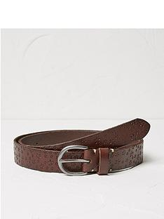 fatface-daisy-embossed-leather-belt