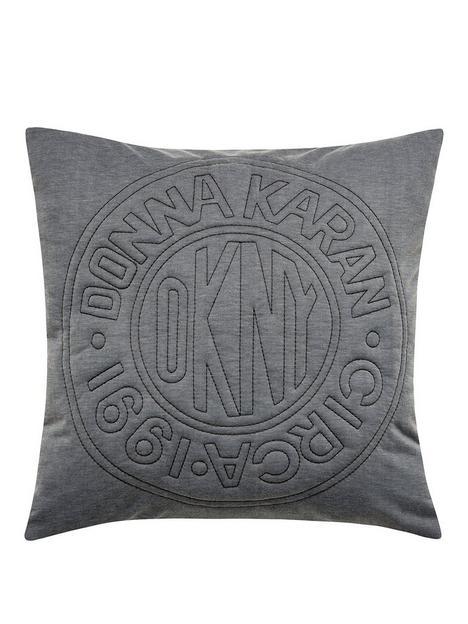 dkny-circle-logo-cushion
