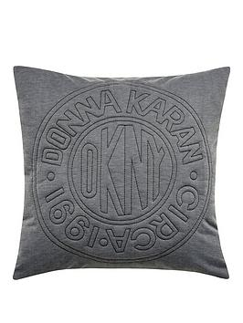 dkny-circle-logo-cushion