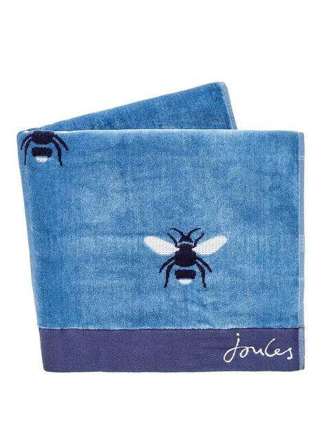 joules-botanical-bee-hand-towel-blue