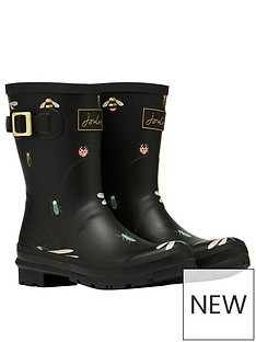 joules-molly-insect-print-short-wellies-black