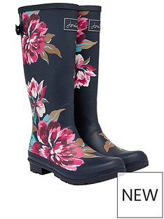 joules-joules-floral-print-full-length-welly-navy