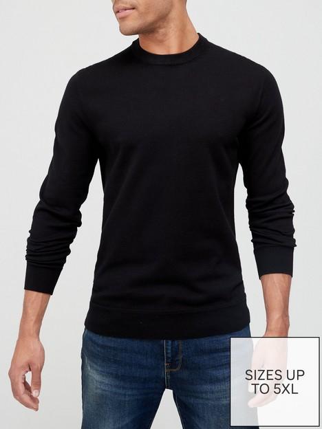 very-man-cotton-rich-crew-neck-blacknbsp