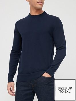 very-man-cotton-rich-crew-neck-jumpernbsp--navy