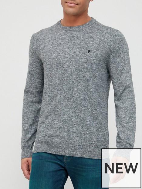 very-man-tri-marl-crew-neck-sweater-grey