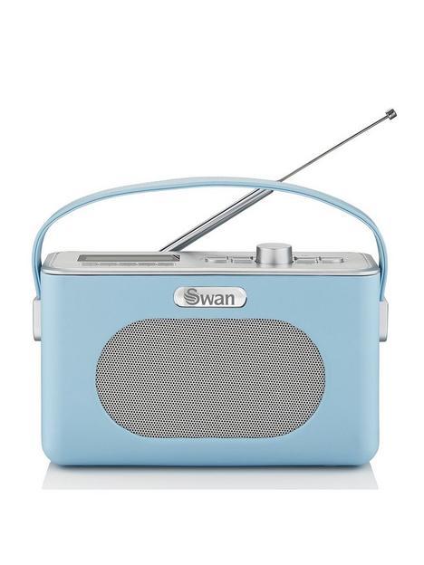 swan-retro-dab-bluetooth-radio-blue