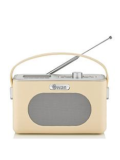 swan-retro-dab-bluetooth-radio-cream