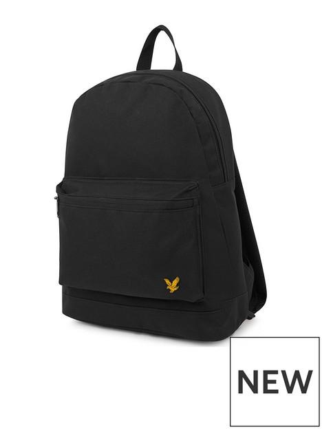 lyle-scott-unisex-canvas-backpack-black