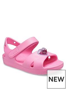 crocs-girls-classic-cross-strap-charm-sandals-pink