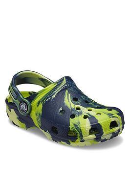 crocs-boysnbspclassic-clog-marble-sandals-navymulti