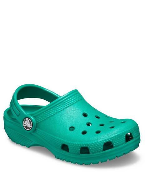 crocs-girlsnbspclassic-clog-sandals-green