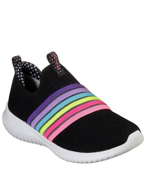 skechers-ultra-flex-brightful-day-slip-on-trainer-black