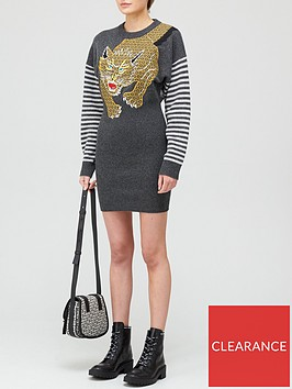 kenzo-embroidered-dress-grey