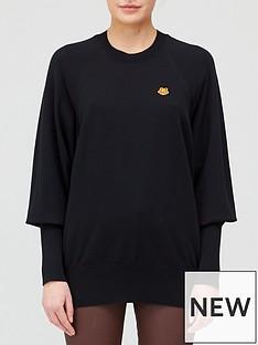 kenzo-tiger-crest-oversize-jumper-black