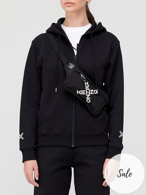 kenzo-sport-zip-up-logo-hoodie-black