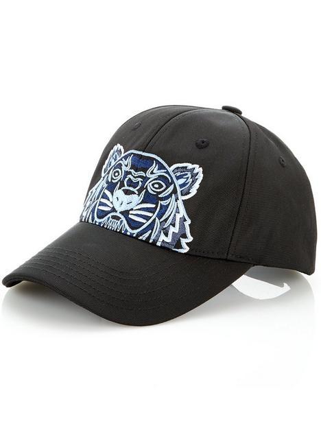 kenzo-tiger-head-cap-black