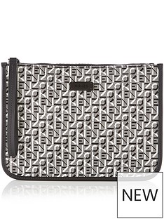 kenzo-courier-jacquard-pouch-bag-grey