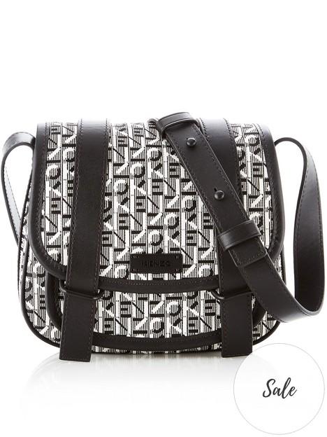 kenzo-courier-small-jacquard-saddle-bag-grey