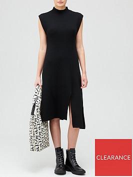 kenzo-asymmetrical-dress-black