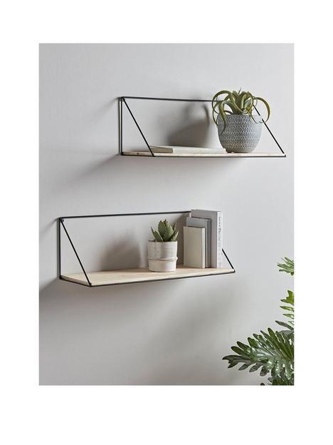 cox-cox-set-of-2-industrial-wood-metal-shelves