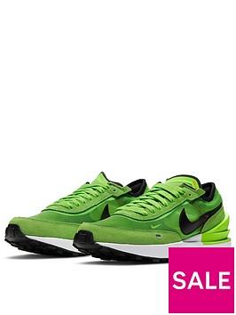 nike-juniornbspwaffle-one-gs-green-black