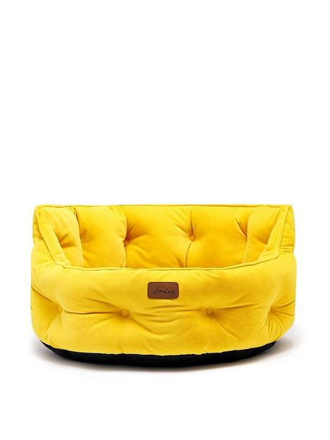 joules-chesterfield-pet-bed-yellow-small