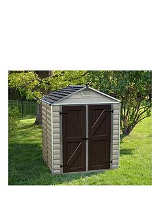 palram-skylight-shed-6x5-tan