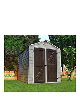 palram-skylight-shed-6x8-tan