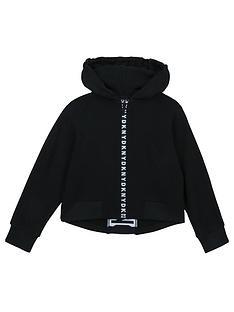 dkny-girls-tape-logo-hoodie-black