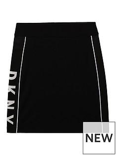 dkny-girls-pull-on-logo-skirt-black