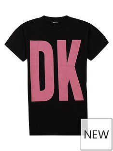 dkny-girls-large-logo-t-shirt-dress-black