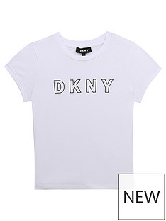 dkny-girls-logo-t-shirt-white