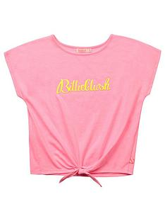 billieblush-girls-tie-front-logo-t-shirt-pink