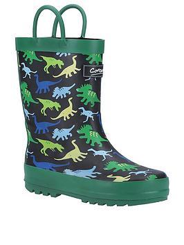 cotswold-dinosaur-wellington-boot-navy