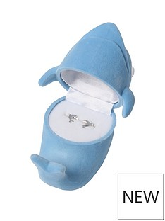 the-love-silver-collection-the-love-silver-collection-dolphin-studs-with-gift-box
