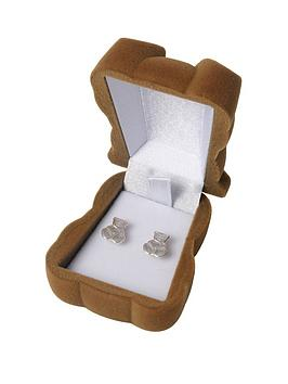 the-love-silver-collection-the-love-silver-collection-teddy-bear-studs-with-gift-box