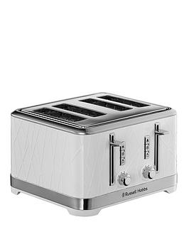 Russell Hobbs Structure 4 Slice White Plastic Toaster - 28100