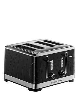 Russell Hobbs Structure 4 Slice Black Plastic Toaster - 28101