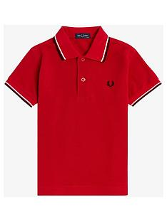 fred-perry-boys-twin-tipped-short-sleeve-polo-red