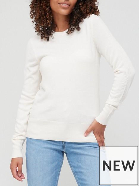 v-by-very-knitted-super-soft-crew-neck-deep-rib-hem-jumper-ivory