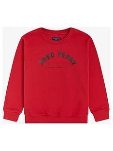 fred-perry-boys-arch-branded-sweatshirt-red