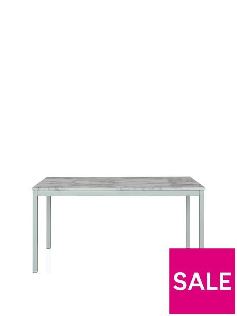 cosmoliving-by-cosmopolitan-greta-152-cm-faux-marblenbspdining-table--nbspwhite
