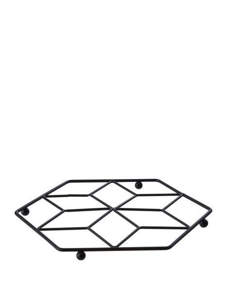 premier-housewares-vertex-trivet-black